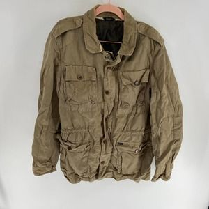 Faconnable Army Green Military Field Jacket